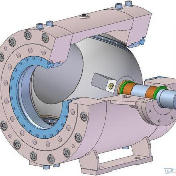 Turbine inlet ball valves - type SPV-3P-M